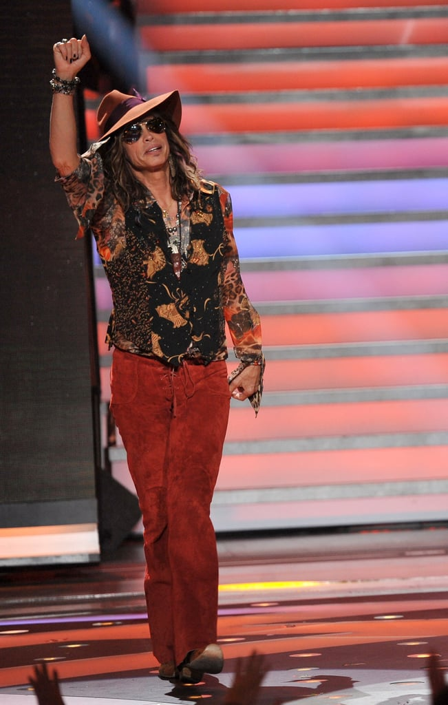 Steven Tyler was introduced with great applause from the crowd.