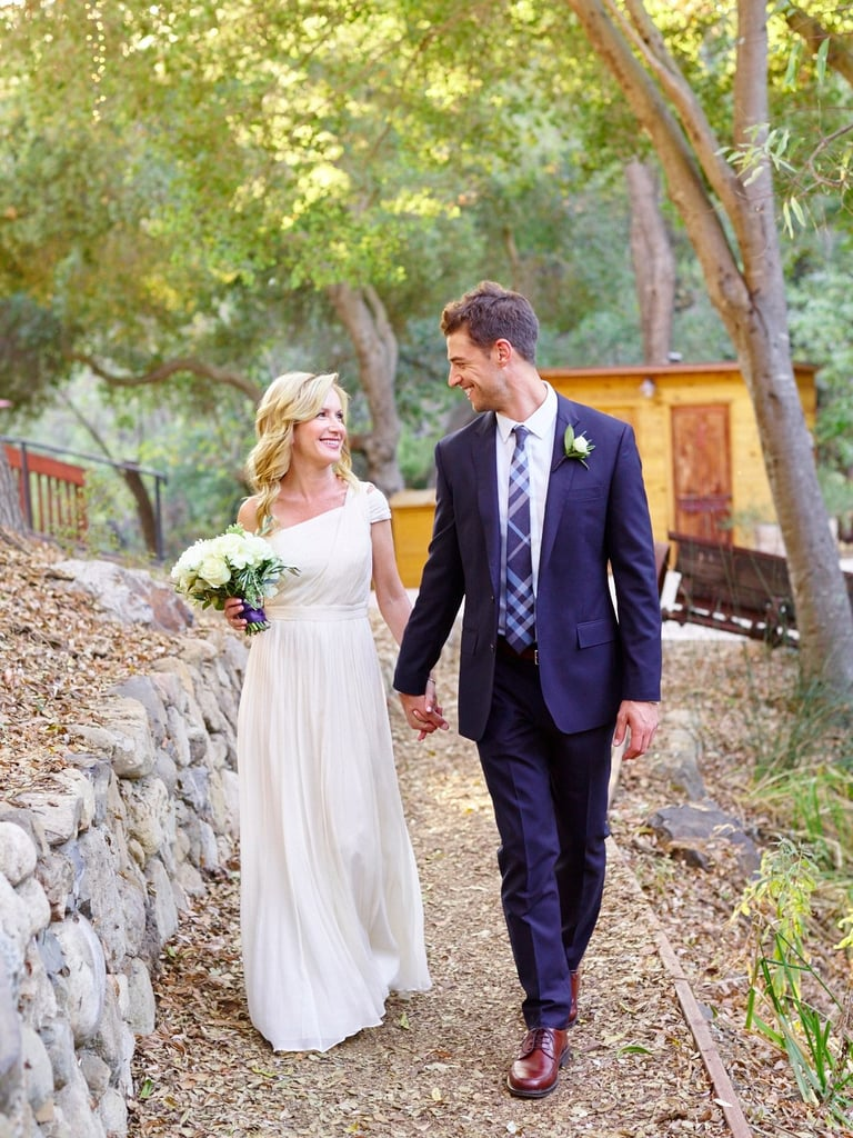 Angela Kinsey's Wedding Dress