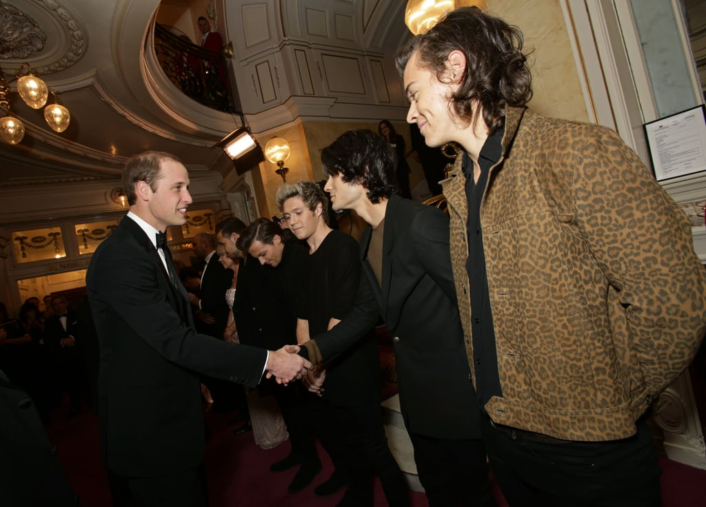 One Direction Meeting Prince William in 2014
