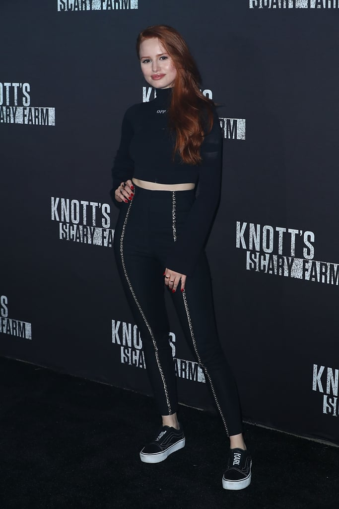 Wearing a top from Off-White with I.AM.GIA pants and shoes by Vans x Karl Lagerfeld at an event in 2017.