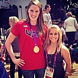 Missy Franklin posed with Shawn Johnson.  Source: Twitter user todayshow