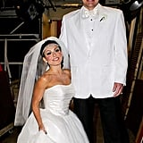 Kelly Ripa and Nick Lachey in costume as Kim Kardashian and Kris Humphries.