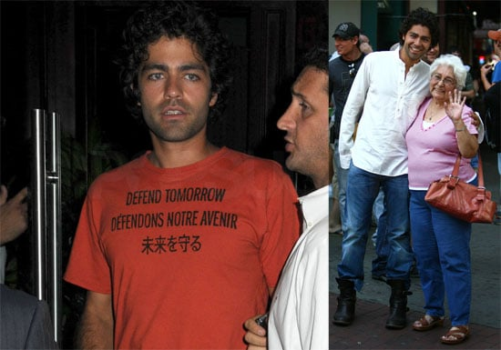 Photos of Adrian Grenier on the Set of Entourage With His Grandmother and Vince's New Love Interest