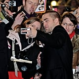 Rob held the camera for a fan in Germany.