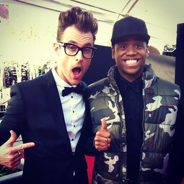 AMA preshow hosts Brad Goreski and Tristan Wilds ran into each other on the red carpet. Source: Instagram user mrbradgoreski