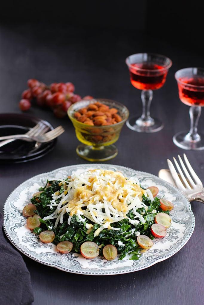 Kale Jicama Salad With Smokehouse Almonds