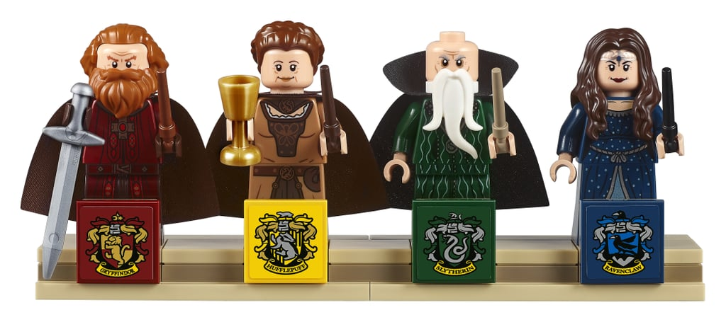 The Sets Four Minifigures Godric Gryffindor Helga Hufflepuff