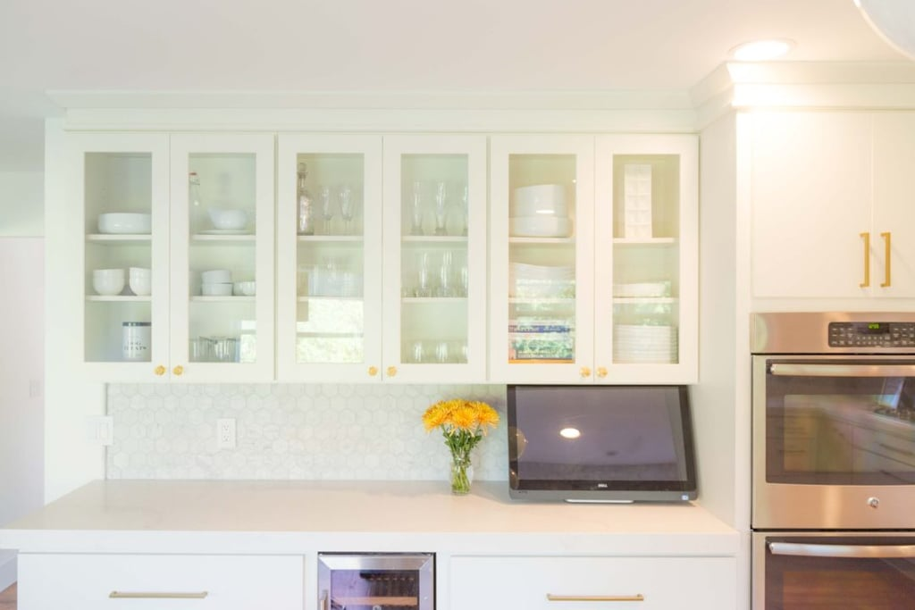 Before: Kitchen Cabinet Peonies