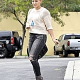 Hilary Duff visited a coffee shop in West Hollywood on Friday.