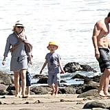 Naomi Watts, Liev Schreiber, and their sons, Sasha and Kai, spent a sunny Saturday by the beach in LA.