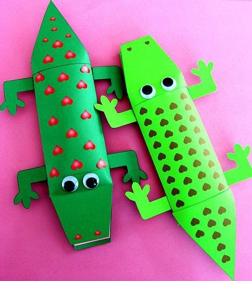 Crocodile Valentine's Printable