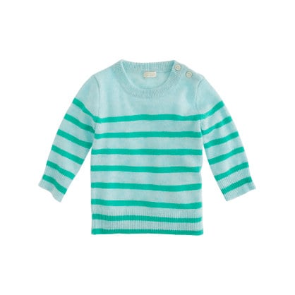 J.Crew Collection Cashmere Baby Sweater in Sailor Stripe ($145)