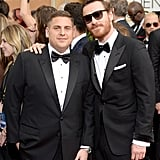 Jonah Hill and Michael Fassbender brought two times the good looks.