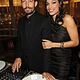 Rosario Dawson found love with Mathieu Schreyer, who goes by DJ Mr. French. They dated for three years before splitting in 2011.