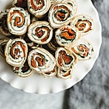 Herbed Chevre, Spinach, and Smoked Salmon Pinwheels