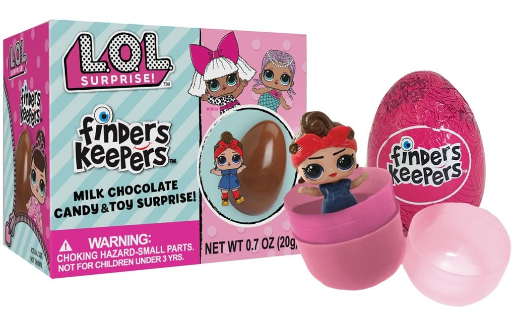 LOL Surprise Finders Keepers Chocolate Egg Candy /& Toy Mystery Pack Lot of 2