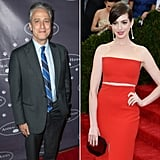 Anne Hathaway and Jon Stewart