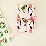 Tree Toting Girls Christmas Wrapping Paper