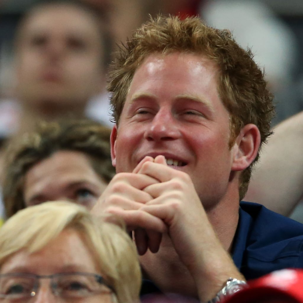Prince Harry and Prince William at Olympic Gymnastics
