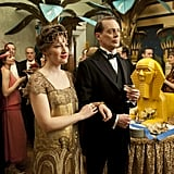 Margaret Schroeder (Kelly MacDonald) accompanies Nucky (Steve Buscemi) to some kind of Egyptian-themed party.