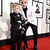 Justin Bieber and his adorable brother, Jaxon, put on quite the show at the Grammys.