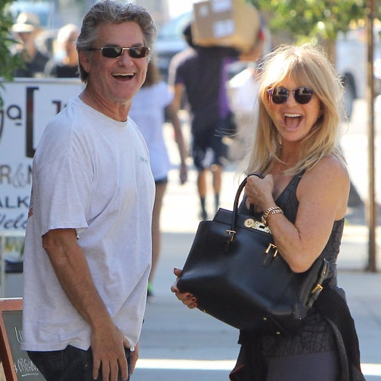 Kurt Russell and Goldie Hawn Showing PDA in LA Pictures