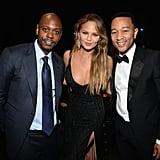 John Legend, Chrissy Teigen, and Dave Chappelle