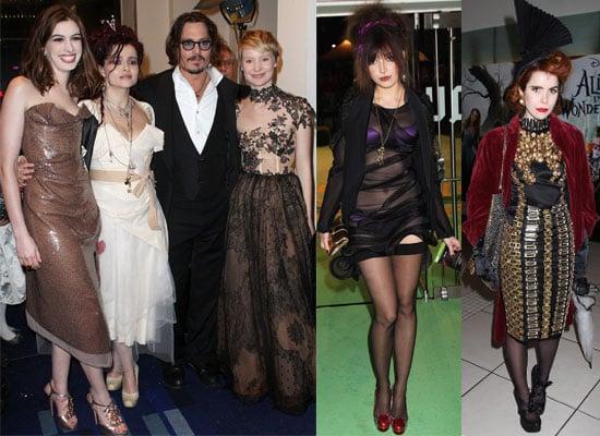 Photos of Alice in Wonderland UK Royal Premiere with Johnny Depp, Anne Hathaway, Tim Burton, Helena Bonham Carter, Daisy Lowe