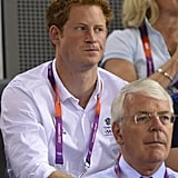 On day 11, Prince Harry watched track cycling at the London Games.