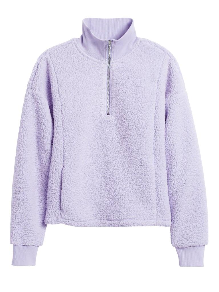 Sherpa Fleece Half-Zip Sweatshirt