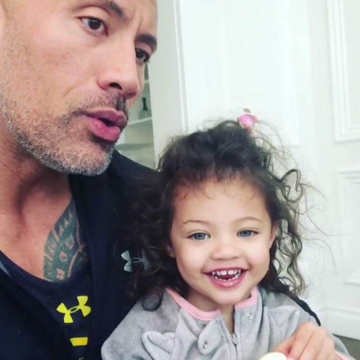 The Rock And Daughter International Women S Day Instagram