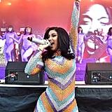 Cardi B Performing at Bonnaroo in 2019