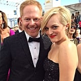 Jesse Tyler Ferguson and Elisabeth Moss paired up on the Emmys red carpet. Source: Instagram user primetimeemmys
