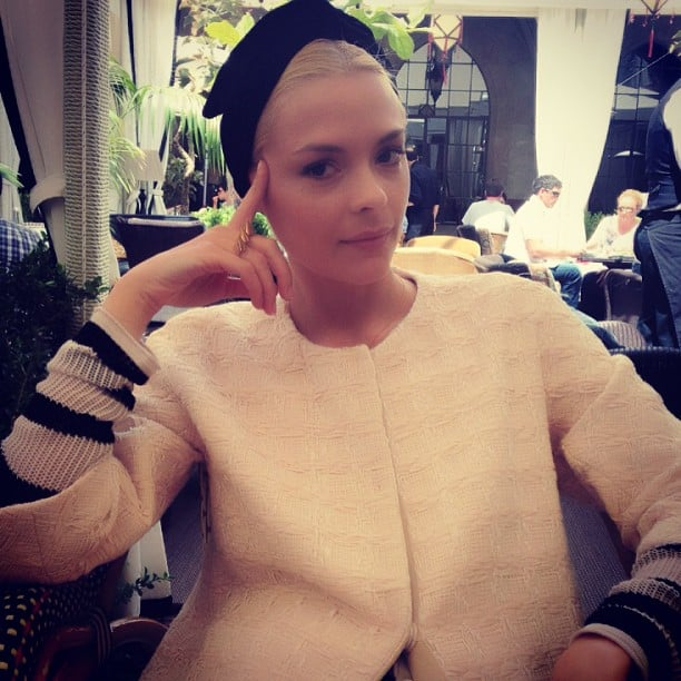 Jaime King layered up for an LA lunch. Source: Instagram user jaime_king