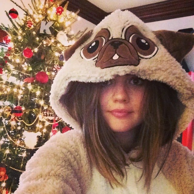 Lucy Hale shared her spectacular choice of Christmas Eve pajamas.