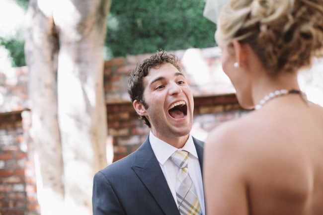 You can just feel his excitement.  Photo by J Wiley Photography via Green Wedding Shoes