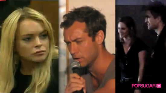 Video of Lindsay Lohan in Court, Jude Law Singing, and Robert Pattinson and Kristen Stewart at an LA Movie Theater For Eclipse 2010-07-06 14:18:37