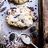 Blackberry Lavender White Chocolate Scones