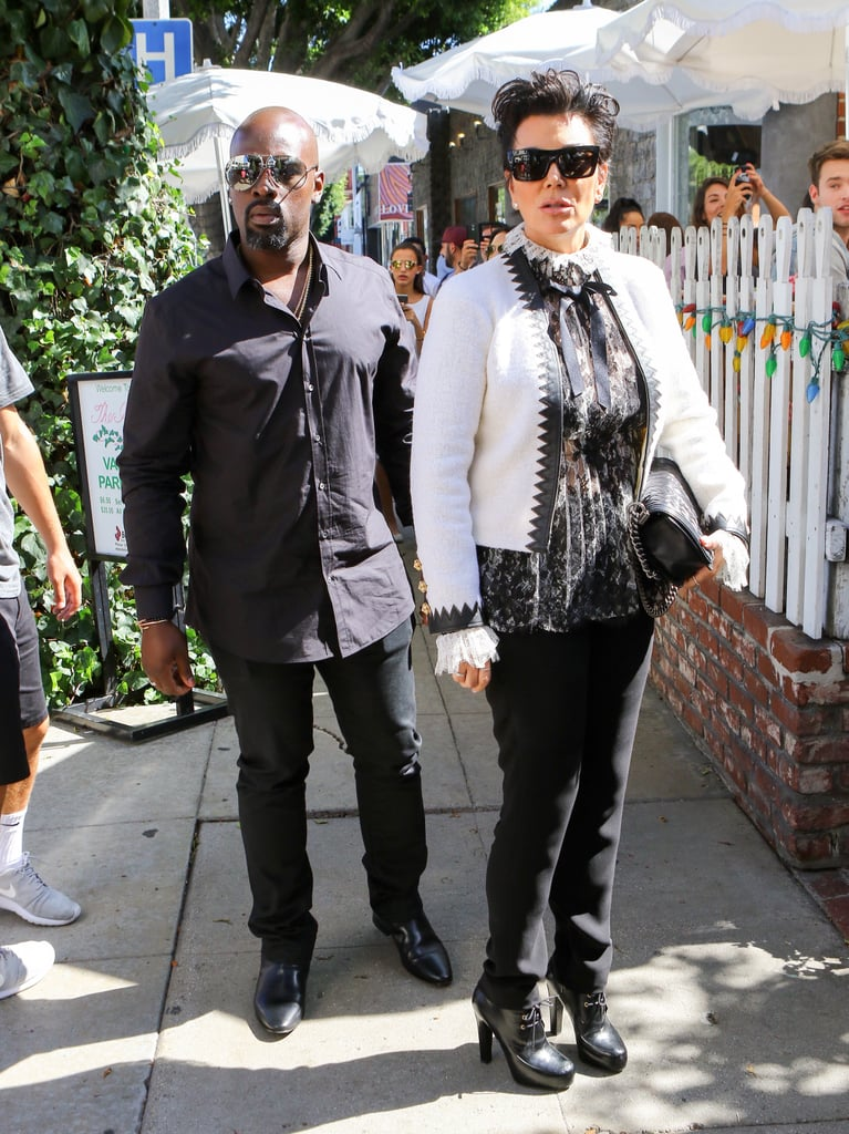 1c255a3a81a Kris jenner stood tall in black skinny jeans lace up booties jpg 767x1024  Jeans and lace