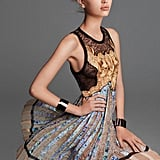 We love the juxtaposition of pleats, soft fabric, and floral print in this wild Roberto Cavalli cocktail dress. Source: Fashion Gone Rogue