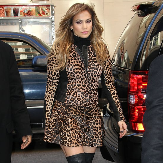Jennifer Lopez Wearing Leopard-Print Dress in NYC | Pictures