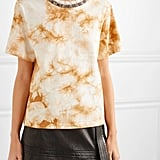 3.1 Phillip Lim - Wool-trimmed tie-dye cotton-jersey T-shirt