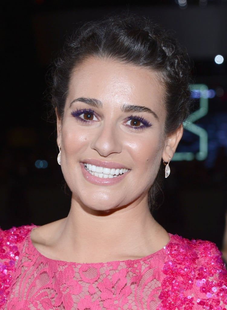 Lea Michele smiled for the cameras.