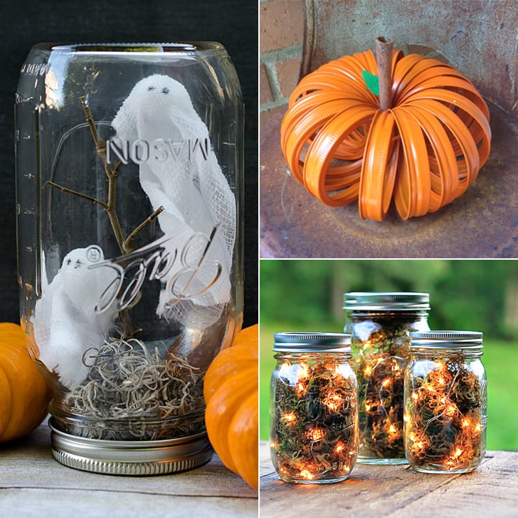 A Guide To Using Pinterest For Home Decor Ideas: Mason Jar Halloween DIY Projects