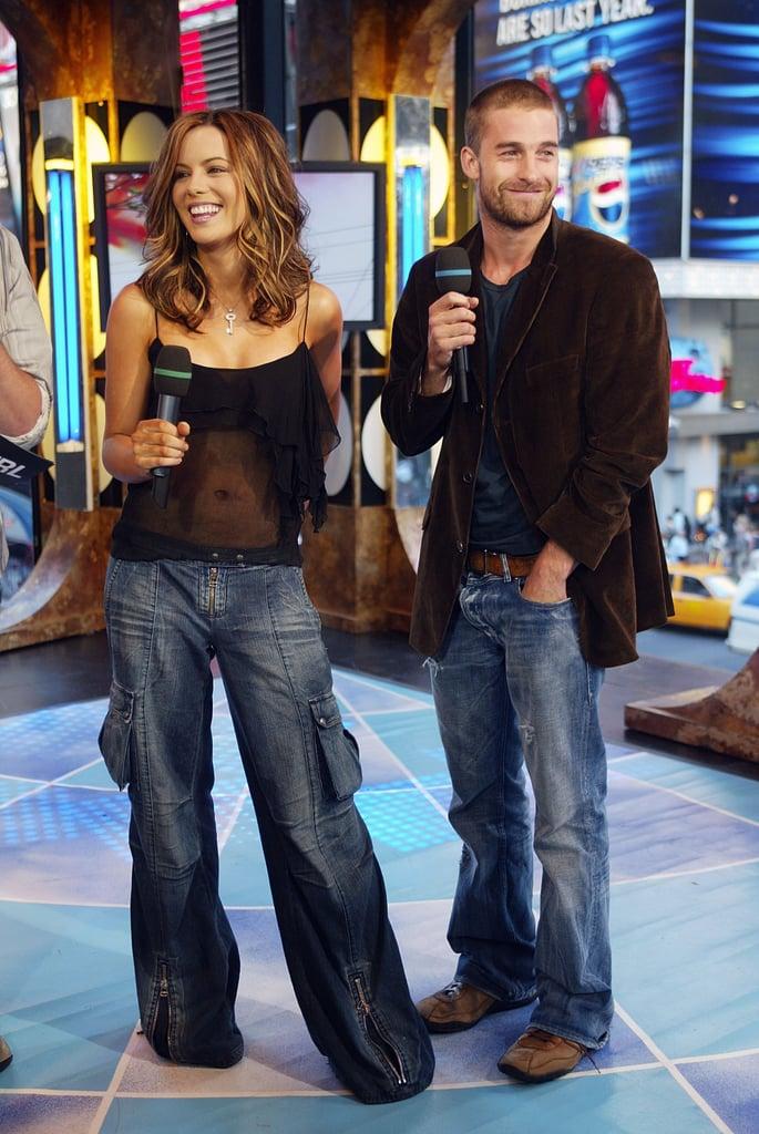 Kate Beckinsale appeared on TRL with Scott Speedman in 2003.