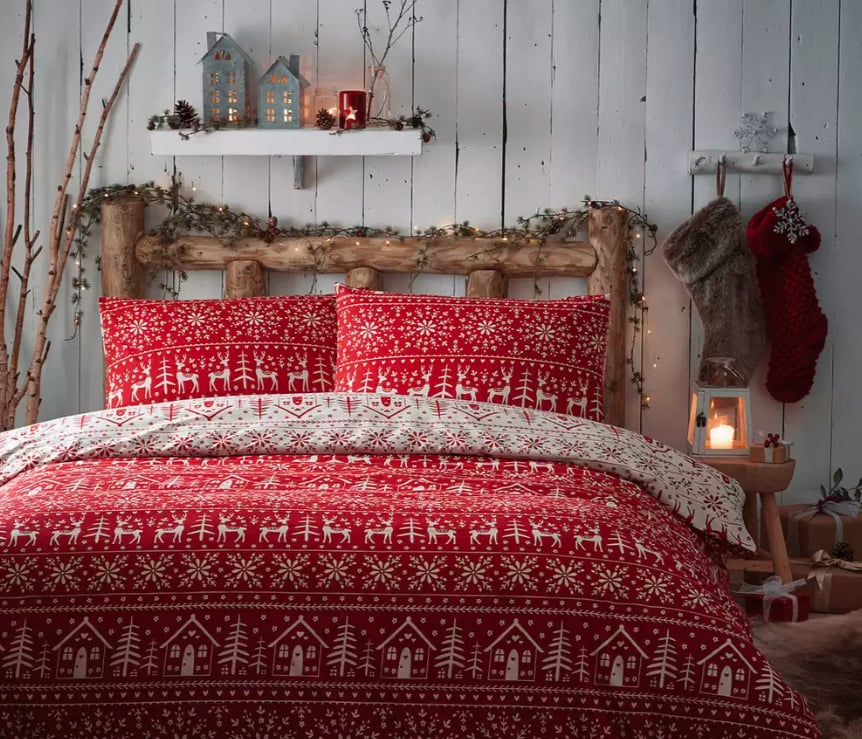 Debenhams Red Fairisle Christmas Duvet Set