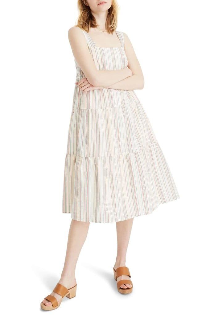 e25eb4c91cd Madewell Button Back Tiered Dress