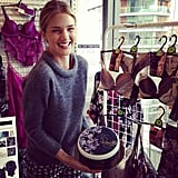 Rosie Huntington-Whiteley celebrated the first anniversary of her lingerie collection with Marks & Spencer. Source: Instagram user rosiehw
