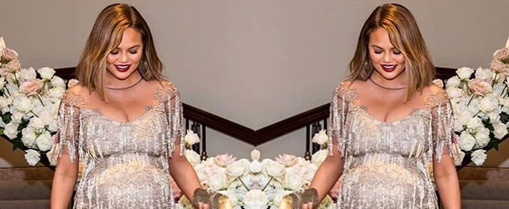 Chrissy Teigen's Silver Fringe Dress
