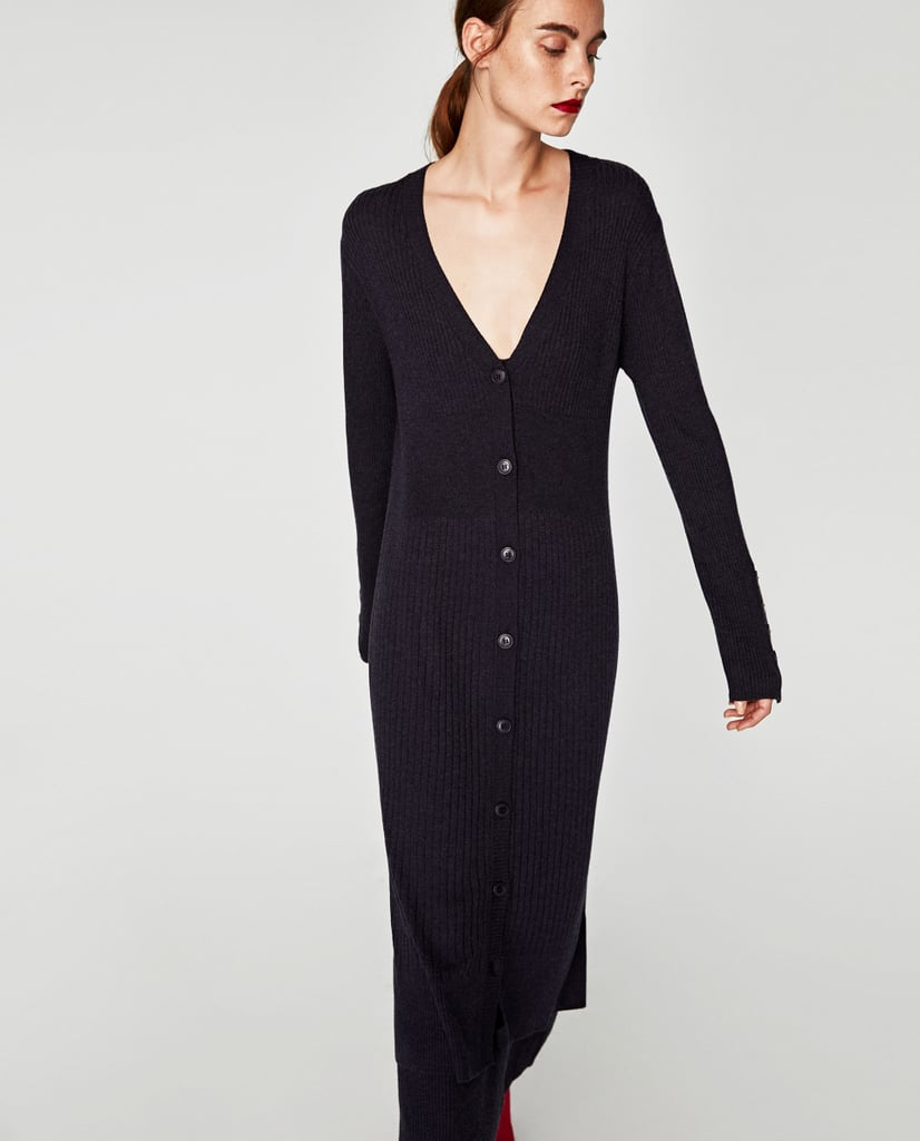 Zara Long Ribbed Cardigan